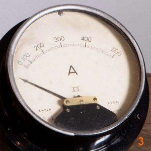 Ampèremètre A.M.P.E.R. Lyon - déco indsutrielle vintage