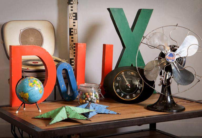 Déco décoration objets vintages industriels