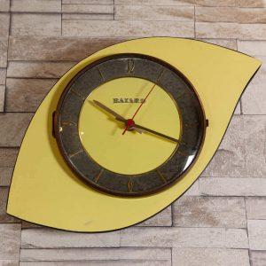 Horloge murale Bayard formica jaune