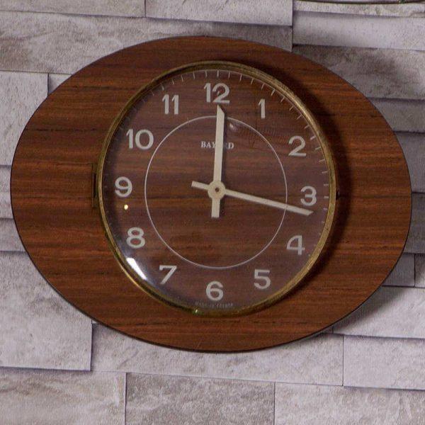 Horloge murale Bayard formica marron