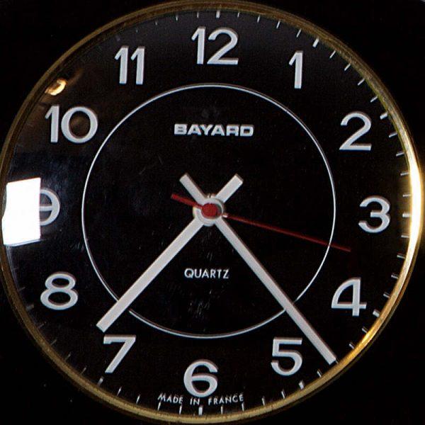 Horloge murale Bayard formica noir