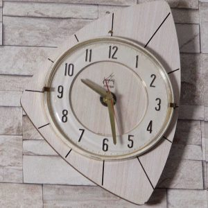 Horloge murale Japy formica blanc