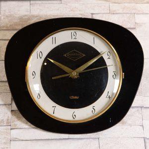 Horloge murale Lutetia formica noir et blanc