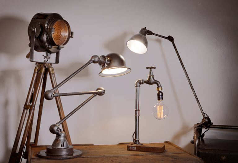 Lampe luminaire applique projecteur vintage industriel O-range Metalic