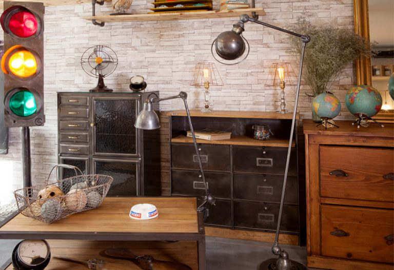 Mobilier et Meubles style Industriel metal bois, meubles de métier