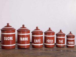 Pot émaillé vintage O'range Metalic