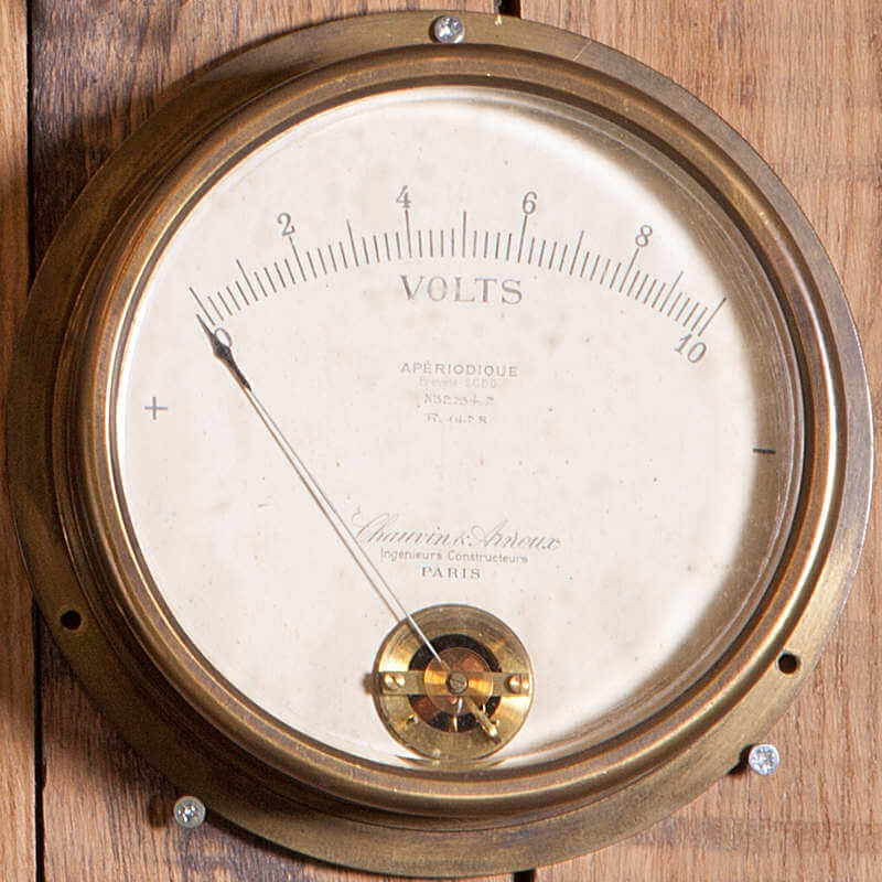 Voltmètre industriel vintage O'range Metalic
