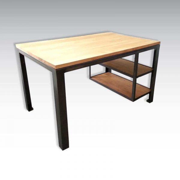 Bureau de style industriel acier et bois