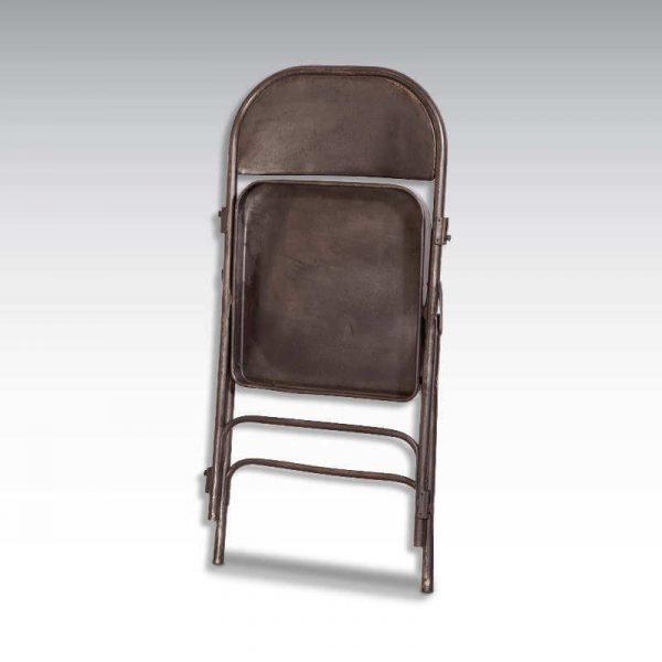 Chaise pliante en acier