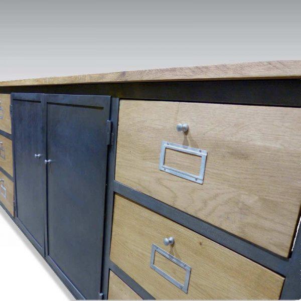 Enfilade industrielle meuble de métier