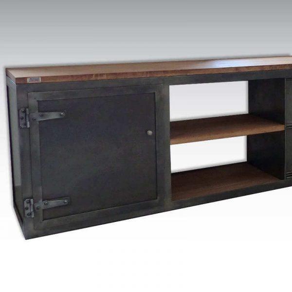 Enfilade loft meuble TV finition style industriel