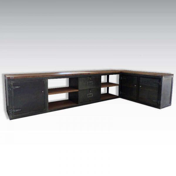 Enfilade loft meuble TV style industriel et sur mesure