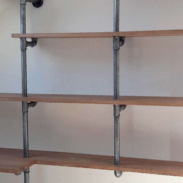 Étagères tubes acier galvanisé