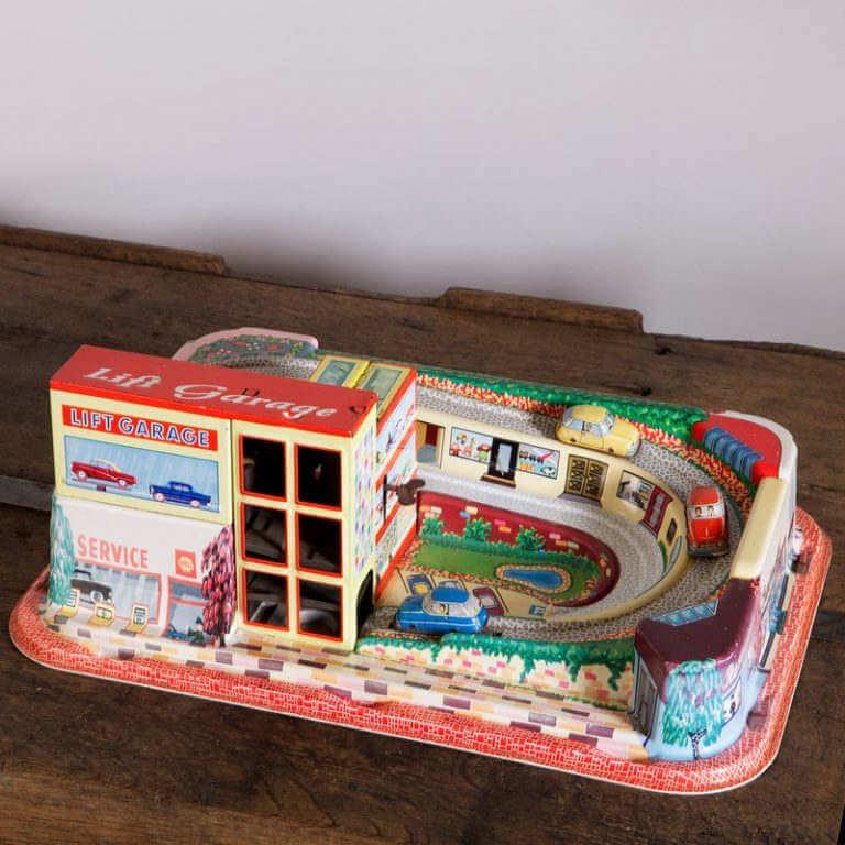 Garage circuit enfant vintage O'range Metalic