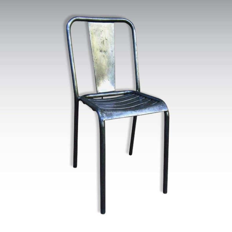 chaise Tolix insutrielle vintage O'range Metalic