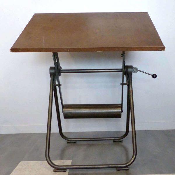 Table à dessin vintage avec contre poids années 60 Heliolithe - Décoration industrielle Architecte