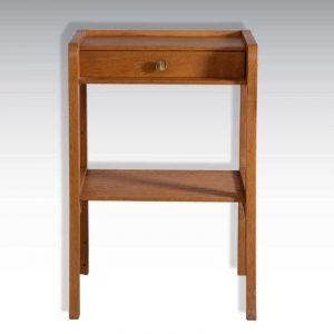 Table de chevet vintage épuré en bois années 60/70