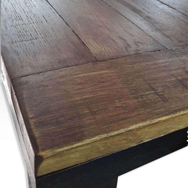 Table haute acier et chêne