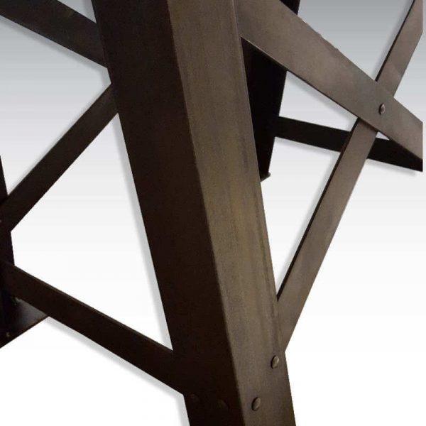 Table haute industrielle pied Eiffel