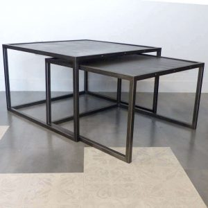 Tables basses gigognes style industriel en acier