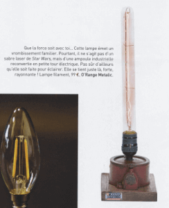 Campagne chic & broc - Revue de presse Lampe Orange Metalic