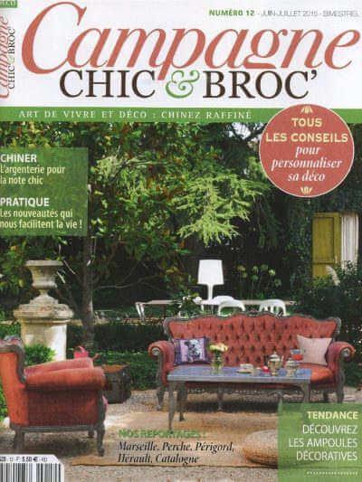 Campagne chic & broc - Revue de presse Orange Metalic - Lampe O'Range Métalic