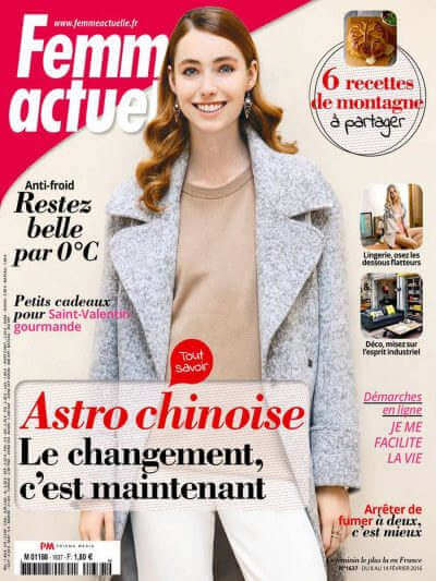 Femme Actuelle - Revue de presse Orange Metalic -