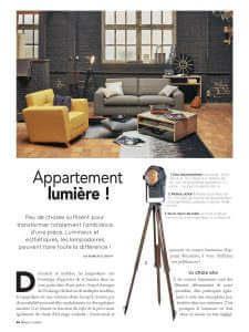 Maison Décoration - Revue de presse Orange Metalic - Projecteur sur trépied