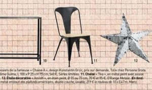 Maison Française magazine - Revue de presse Orange Metalic