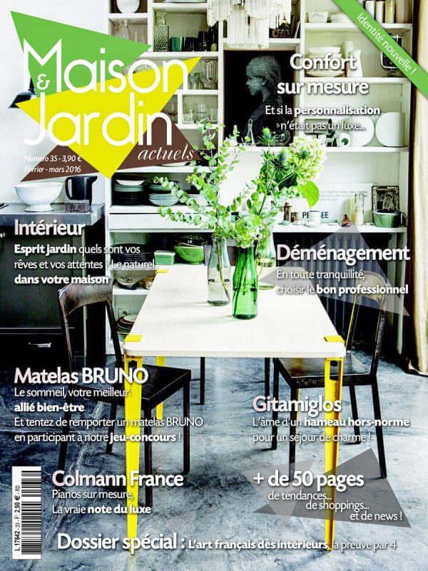 Maison & Jardin - Revue de presse Orange Metalic - Meuble Industriel 4 clapets