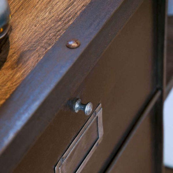 Meuble à clapets et étagères bois