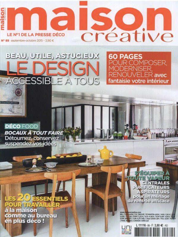 Maison créative - Revue de presse Orange Metalic - chaise bienaise