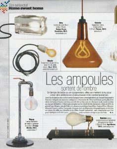 VSD - Revue de presse Orange Metalic - Lampe plomberie - idée déco industrielle