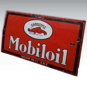 Plaque émaillée Mobiloil XXL