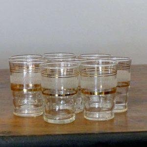 8 Petits verres années 60