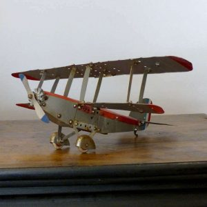 Avion biplan Meccano années 50