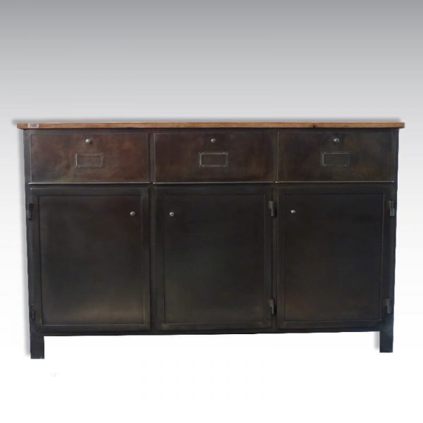 Commode industrielle et vintage. O'range Metalic