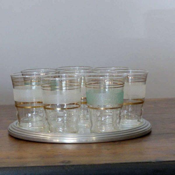 Lot 6 verres années 60