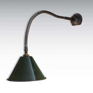 Lampe d'atelier flexible émaillée