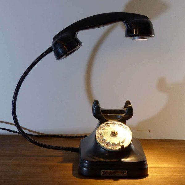 Lampe Téléphone vintage à cadran style Bakélite