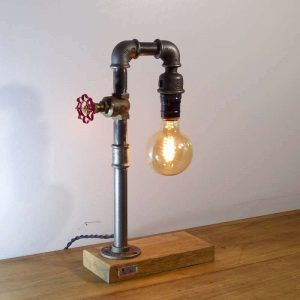 Lampe tube steampunk
