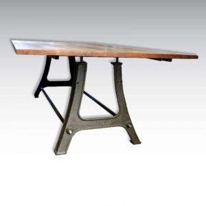 Table haute pieds industriels