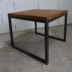 table basse style industriel acier et bois sur mesure