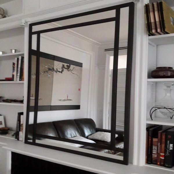 Grand miroir design industriel fabriqué sur mesure