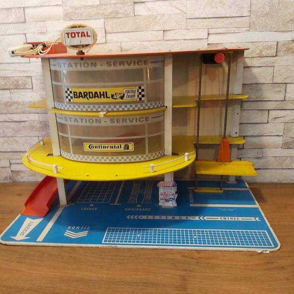 Jouet Vintage Garage Petites Voiture Station Essence Depreux