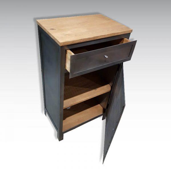 Desserte atelier sur mesure design industriel 1 porte 1 tiroir