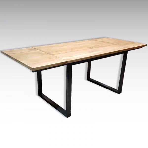 table style industriel avec rallonges sur mesure acier bois
