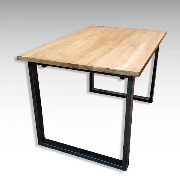 table design industriel avec rallonges bois