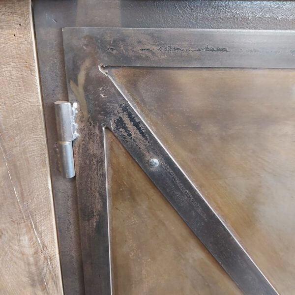 porte métal établi ancien fabriqué sur mesure