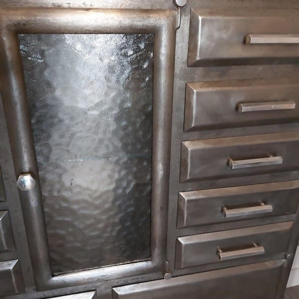 meuble acier cabinet dentaire étagère dentiste rangement vitrine verre cathédrale
